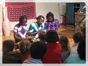 Repas africain et animations assurés par les élèves du  Burkina aux Pradeaux.